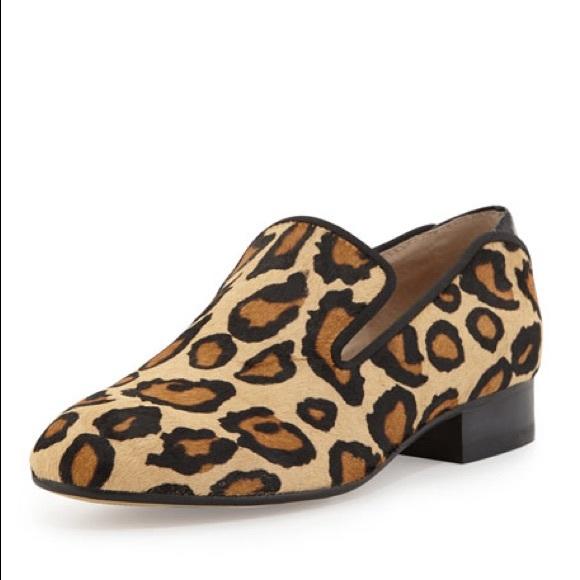 d7bc2a33346 sam edelman Jordy leopard-print calf hair loafer. M 5acac142fcdc318210313e4b